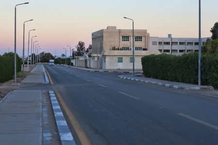 SHARM EL SHEIKH, EGYPT - JANUARY 30, 2018: Deserted roads Sharm El Sheikh - a rare phenomenon. Usually at this time the movement is lively