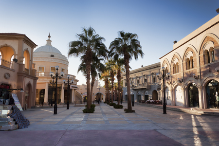 SHARM EL SHEIKH, EGYPT - JANUARY 31, 2018: The promenade of Il Mercato in Sharm El Sheikh is one of the sights of the old city