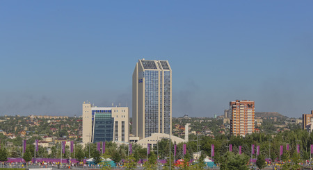 DONETSK, UKRAINE - JUNE 19, 2012: Victoria Hotel in Donetsk near the Donbas Arena