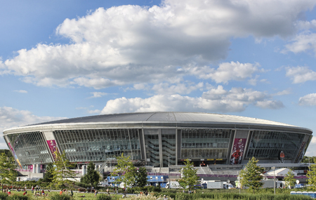 DONETSK, UKRAINE - JUNE 27, 2012: Donbas Arena in Donetsk before the match of EURO 2012.