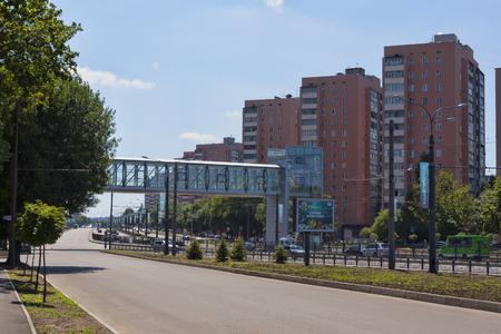 KHARKIV, UKRAINE - JUNE 9, 2012: New developments on the prospectus of Gagarin in Kharkiv Editorial