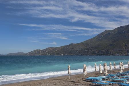 Loutraki beach. Corinthian Gulf of the Ionian Sea, Greece