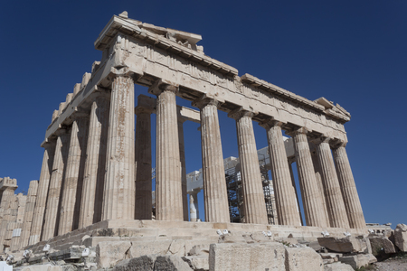 The Parthenon is a monument of ancient architecture, an ancient Greek temple located on the Athenian Acropolis