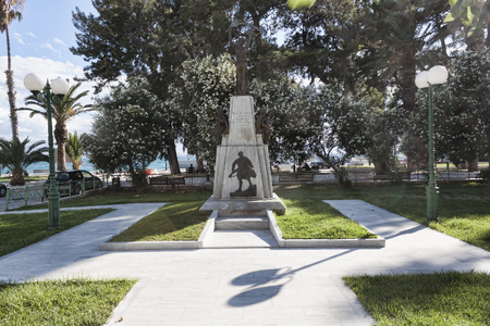LOUTRAKI, GREECE - JUNE 28, 2018: Monument to the Greeks - fighters with fascist occupation in the park by the sea