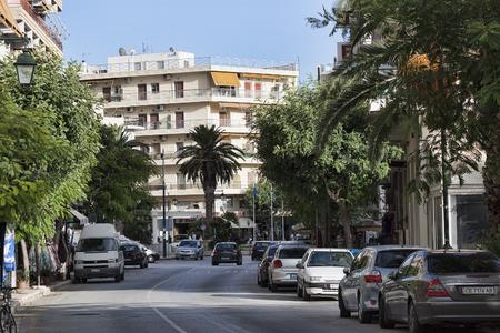 LOUTRAKI, GREECE - JUNE 28, 2018: On the street of Loutraki on a summer day