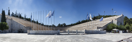 ATHENS, GREECE - JUNE 29, 2018: The first Olympic stadium in Athens. It always lights the Olympic flame