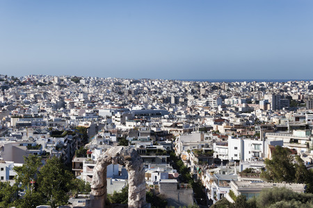Panoramic view from the Acropolis of Athens. Athens, Greece Stock Photo