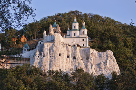 Church of St. Nicholas on the Cretaceous. Included in the Sviatohirsk Lavra