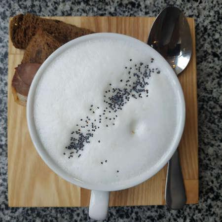 SOUP MUSHROOM CAPPUCCINO. Ingredients: champignon mushrooms, butter, milk, spices,
