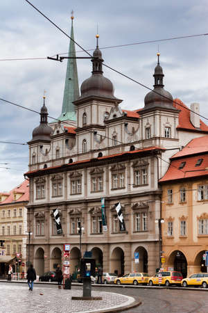 PRAGUE, CZECH REPUBLIC - NOVEMBER 4, 2012: The Little Town Hall in Prague. Nowadays the building houses an exhibition hall, a restaurant, a bar, a pub and a coffee shop