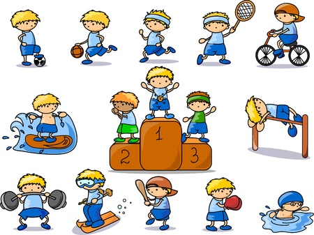cartoon sport icon Stock Vector - 11213531