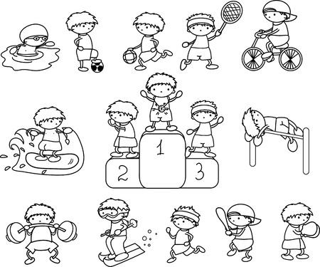 deportes caricatura: dibujos animados icono del deporte Vectores
