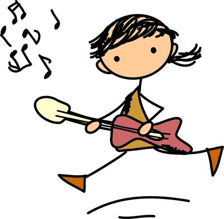 pop culture: Music Doodles Illustration