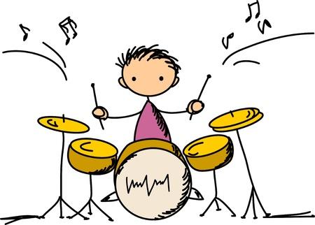 drums: Music Doodles Illustration
