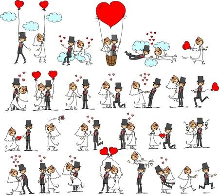 nozze: cartoon matrimonio immagini