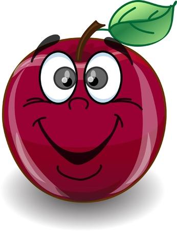 nice food: Красное яблоко счастливым