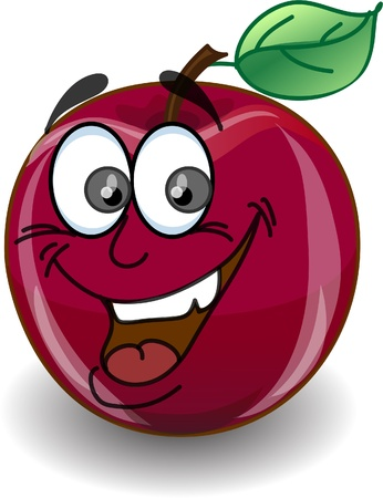 Red happy apple  Vector
