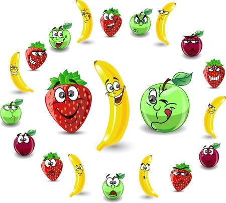 famille malheureuse: Fraises et les pommes de dessins anim�s Emotion