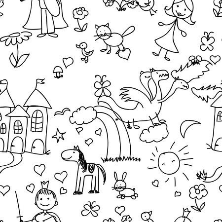 ink sketch: bambino seamless