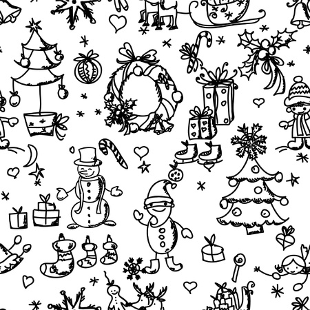 Christmas pattern seamless  Vector