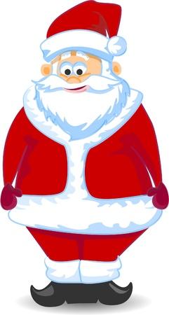 red beard: Cartoon Santa claus