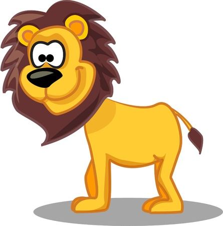 animal fauna: Cartoon lion