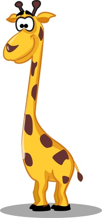 Cartoon giraffe  Illustration