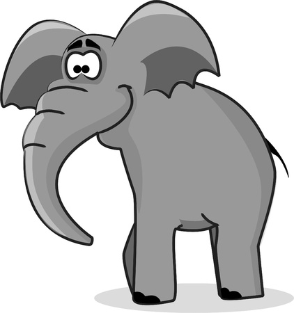 Cartoon elephant  Иллюстрация