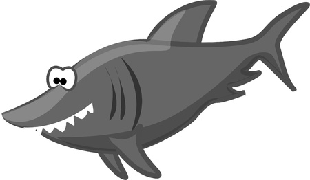 Cartoon sharks  Vector