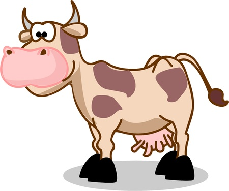 animal fauna: Cartoon cow  Illustration