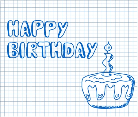 Birthday Card  Vector
