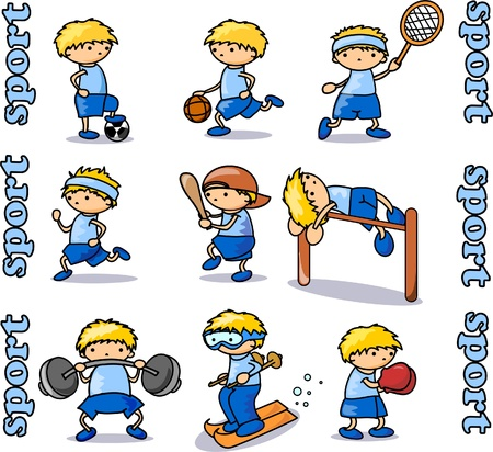 Big sports icons set Stock Vector - 11325408