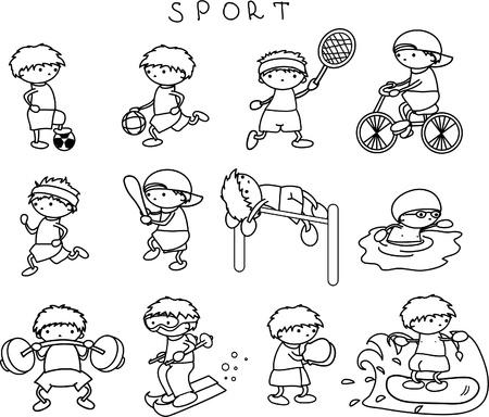 swim race: Deportes iconos Vectores