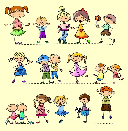 Set happy children  Stock Vector - 11325406