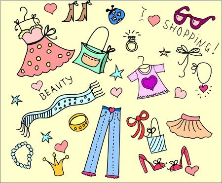 Doodle shopping  Vector