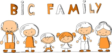 cartoon happy family Stock Vector - 11325409