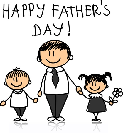Happy Father Stock Vector - 11331203