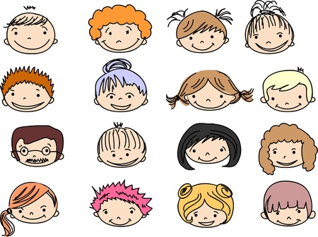 Cartoon cute faces  Stock Vector - 11325403