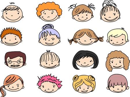 Cartoon cute faces Stock Vector - 11325403
