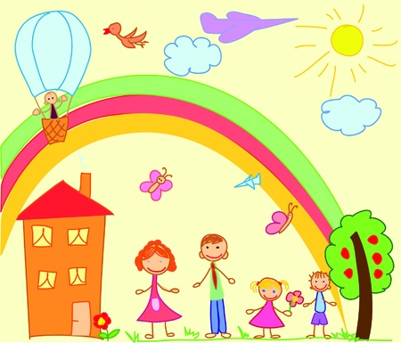 Childs drawing Vector