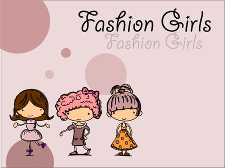 fashionable girls  Stock Vector - 11325672