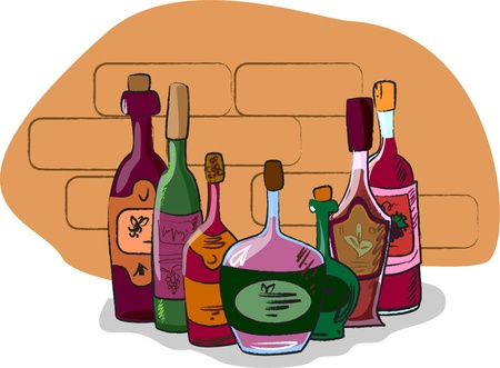 vector collection of wine bottles Stock Vector - 11325662