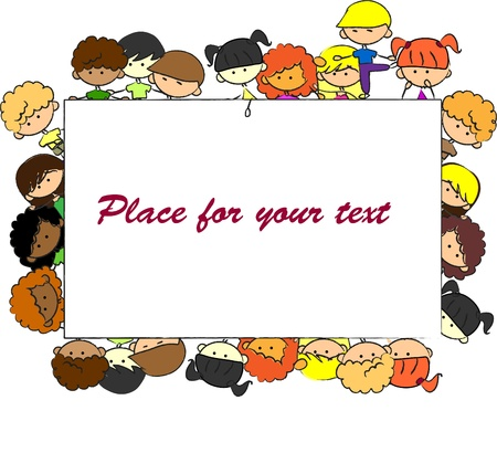 cute children, frame, vector Stock Vector - 11325659