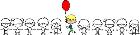 do not be afraid to be not like others, cute children,  Vector