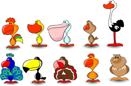 set of vector cute birds  Stock Vector - 11325674