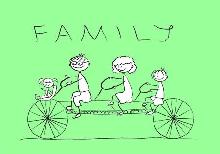 Dibujos animados de la familia feliz Foto de archivo - 11331207
