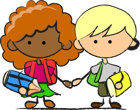 school children Stock Vector - 11325616