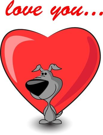 puppy love: lindo cachorro mantiene el corazón