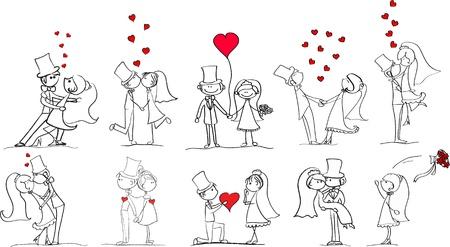 braut und bräutigam: eingestellt von Hochzeitsfotos, Braut und Br�utigam in der Liebe