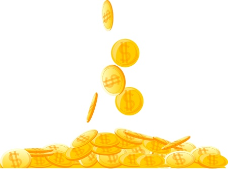 money pile: large pile of coins, money